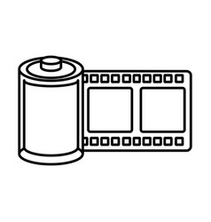 roll tape record isolted icon vector image vector image