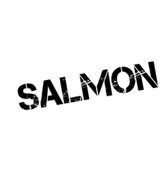 Salmon rubber stamp vector