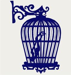 Vintage bird cages vector image vector image
