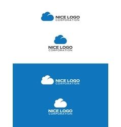 blue cloud logo vector image