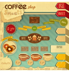 Coffee and Sweet Shop vector image vector image