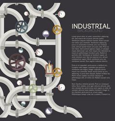 industrial pipeline concept vector image