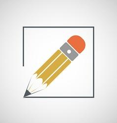 Logo drawing pencil vector image