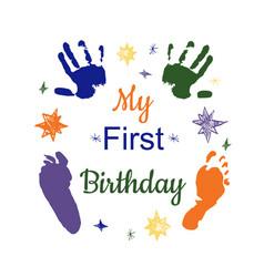 My first birthday vector