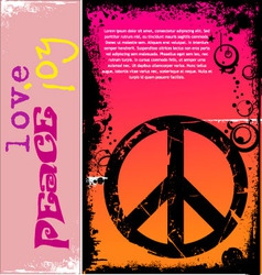 peace background vector image