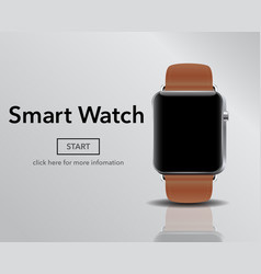 smart electronic intelligence watch vector image vector image