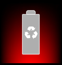 battery recycle vector image