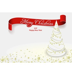 White Christmas Tree vector image vector image