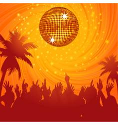 summer disco party vector image vector image