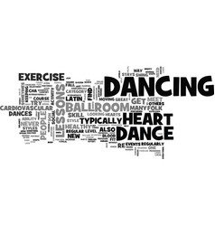 why dance lessons are good for your heart text vector image vector image