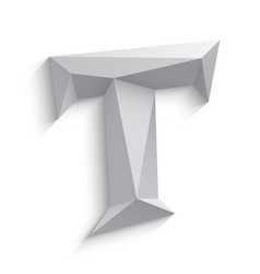 3d letter T on white vector image