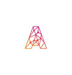 a letter network logo icon design vector image