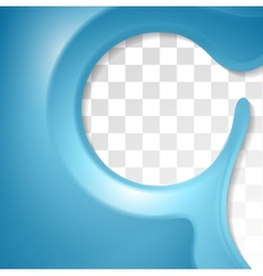 Abstract blue flyer design vector
