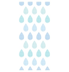 Abstract textile blue rain drops stripes vertical vector image