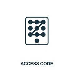 access code icon premium style design from vector image