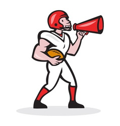 American Football Quarterback Bullhorn Isolated vector