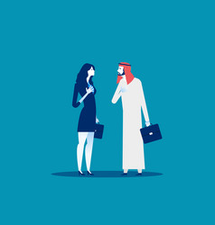 Arabic business people concept business greeting vector