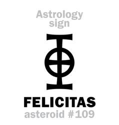 Astrology asteroid felicitas vector