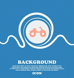 ATV sign Blue and white abstract background vector image