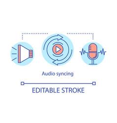 Audio syncing concept icon vector