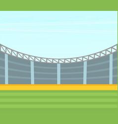 Background of football stadium flat design vector