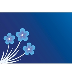 Background with forget-me-not vector