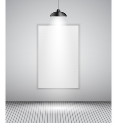 Background with Lighting Lamp and Frame Empty vector image