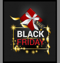 Black friday promotion black background christmas vector
