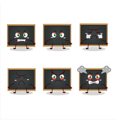 Blackboard cartoon character with various angry vector