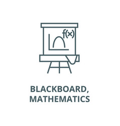blackboardmathematics line icon vector image