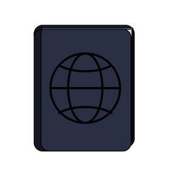 blue passport icon image vector image