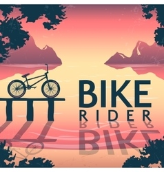 BMX Bike Riding Poster vector image