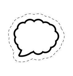 bubble speech cloud cut line vector image