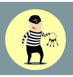 burglar carrying a bunch keys vector image