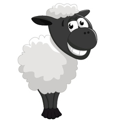 Cartoon sheep posing vector image