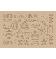 Cocoa Icon logo Signs and Badges vector