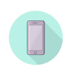 color icon of realistic mobile phone vector image