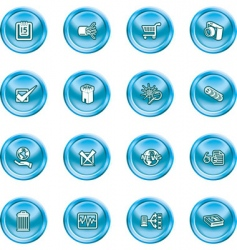computer and web icons vector image