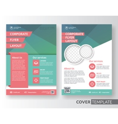 Corporate business flyer layout design vector