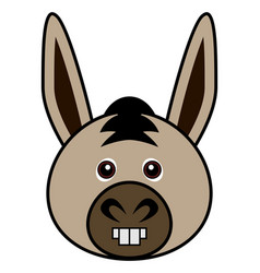 cute donkey cute animal faces vector image