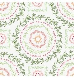 Decorative boho seamless pattern vector image