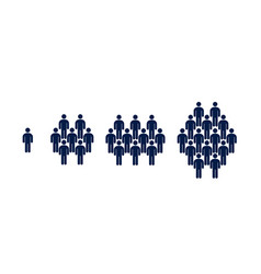 Different groups of people crowd infographics vector
