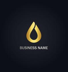 Droplet bio eco gold logo vector