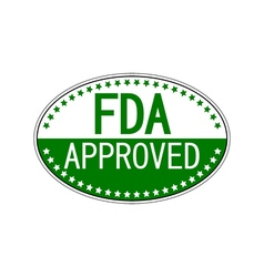 FDA approved oval sticker vector