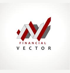 Financial stock exchange market charts logo design vector