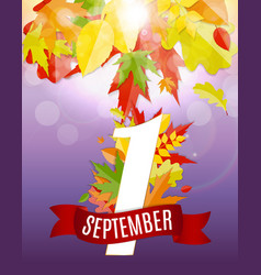 first 1 september template vector image