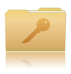 Folder with Key vector image