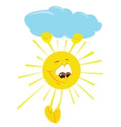 fun cartoon sun vector image