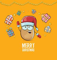 funky comic cartoon cute brown smiling vector image