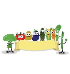 Funny Veggies Banner vector image